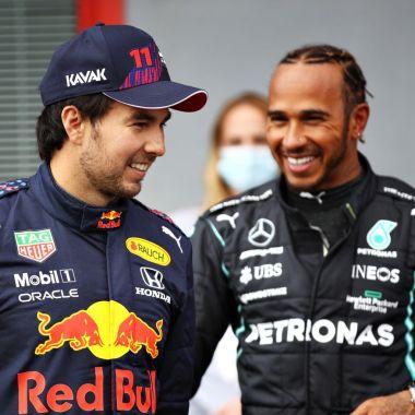 Checo Pérez Lewis Hamilton
