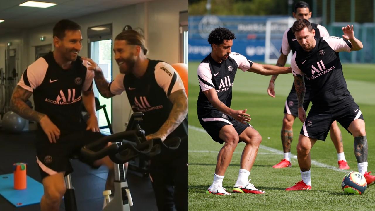 PSG Messi primer entrenamiento