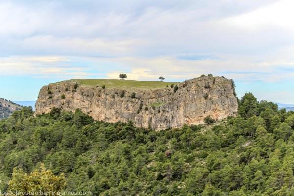 Ruta senderista hasta «La Caixa», en Beceite (Matarraña)