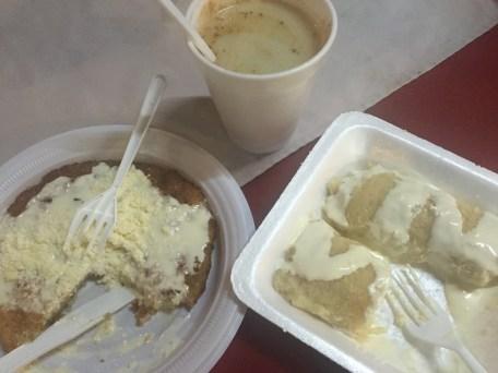 Atol de Elote (sweet corn and milk drink), Nacatamal