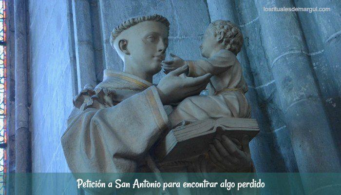 Petición a San Antonio para encontrar algo perdido
