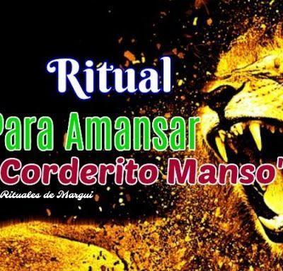 RITUAL PARA AMANSAR ~ CORDERITO MANSO