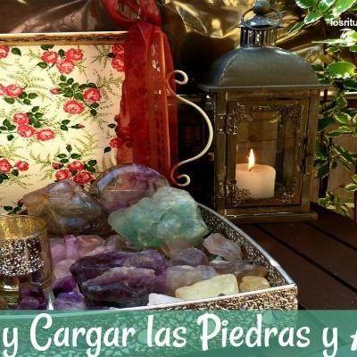 Limpiar y Cargar Piedras, amuletos y talismanes