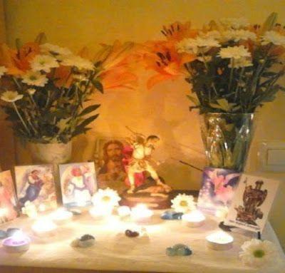 Altar a San Miguel Arcángel ~ Inma Padilla