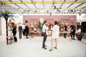 Pink panter stand Á la show-up met goud en het jungle thema