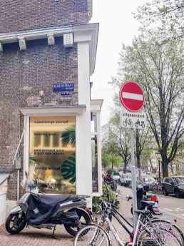 Amsterdam bordje 9 straatjes losse bloemen inspiratie