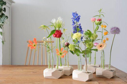 sfeer-reageerbuisvaasje-met-tape-studiohamerhaai-vaas-voor-losse-bloemen duurzaam design vaas