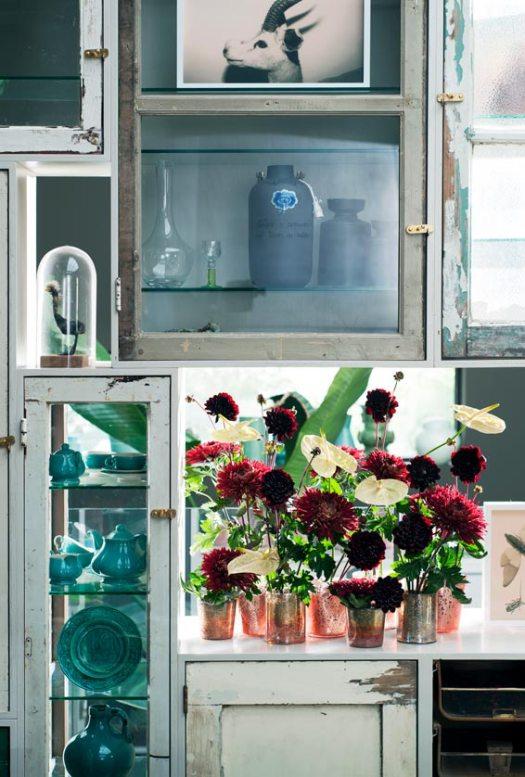 chrysant-anthurium-vaasjes-beeld-mooiwatbloemendoen-losse-bloemen mooi bloemen