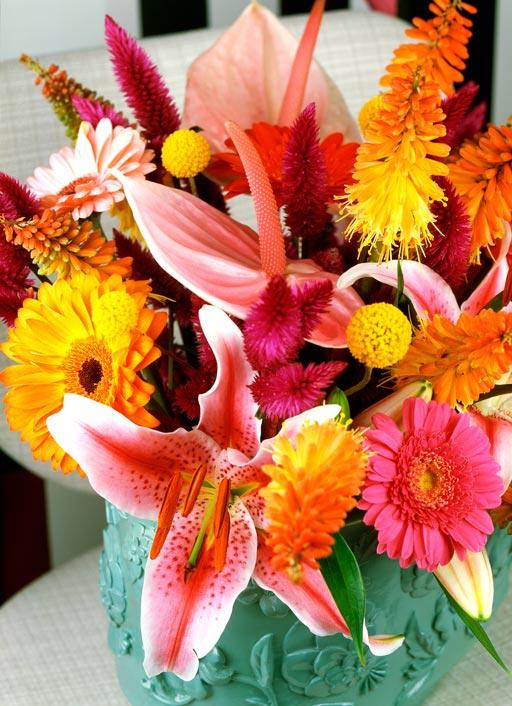 oud en nieuw foto-kleurrijk-lelie-anthurium-boeket-bloemen-losse-bloemen-beeld-mooiwatbloemendoen lelie-Lilium--Gerbera---Kniphofia---Lilium-beeld;-mooiwatbloemendoen-bloemen-voor-oud-en-nieuw-huis-versieren-decoreren-interieur-bloemenblog-losse-bloemen-