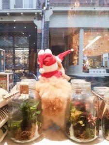 lossebloemen Kerstshoppen in hartje Utrecht losse bloemen it's a present winkel lama