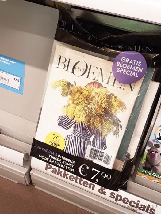 Elle bloemen losse bloemen blog AH tijdschriften rek