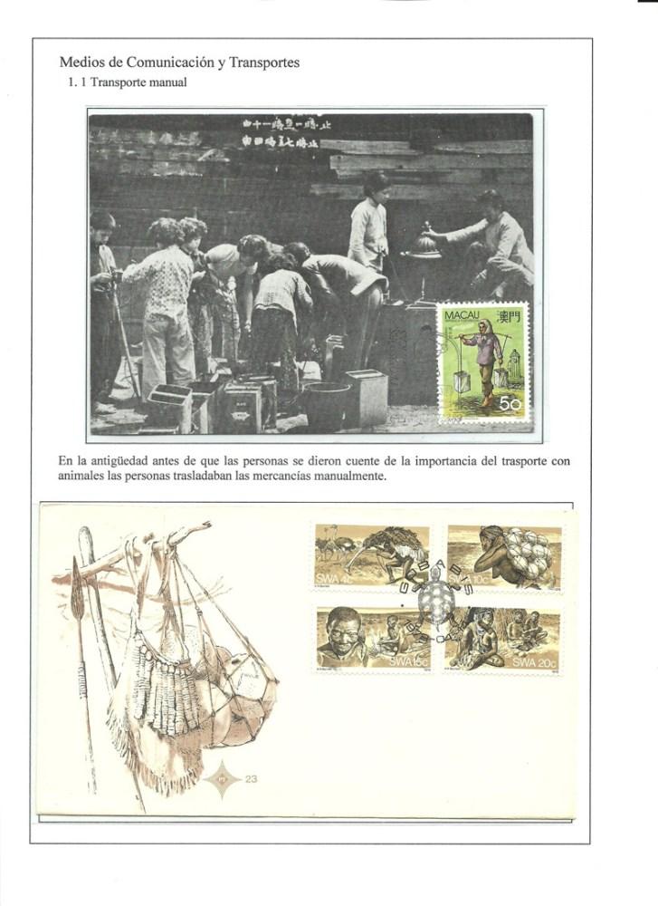 MEDIOS DE COMUNICACION Y TRANSPORTES - HISTORIA DE LA COMUNICACION TERRESTRE. FILATELIA (3/6)