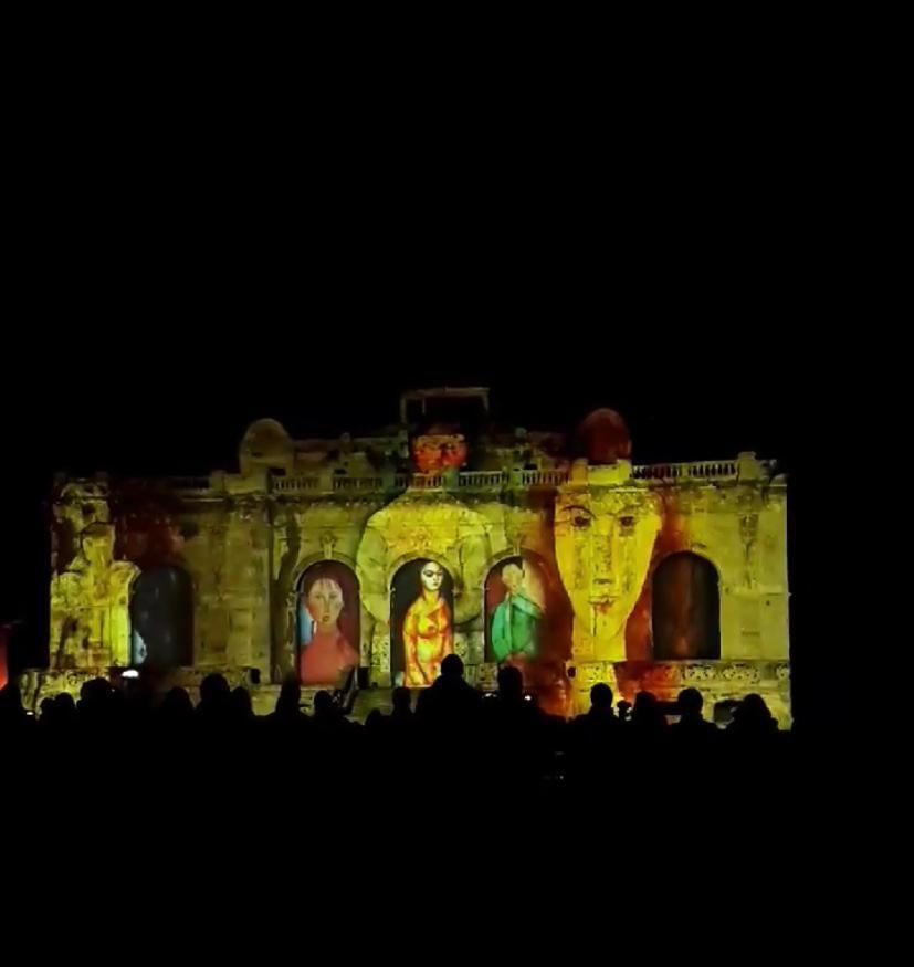 Videomapping dedicato ad Amedeo Modigliani