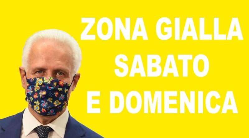 Eugenio Giani, Zona Gialla anche sabato e domenica