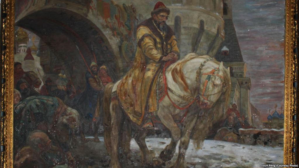 """""""Secret Departure Of Ivan The Terrible Before The Oprichnina"""" by Mikhail Panin. Source: RFE/RL"""