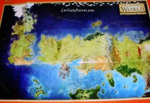 The Lands of Ice and Fire Mapa Grande - Big Map