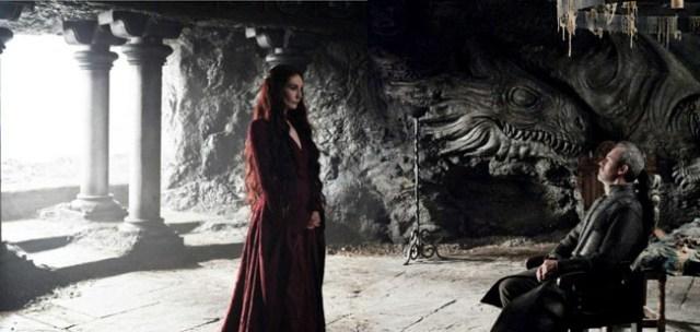 Melisandre y Stannis en Rocadragón