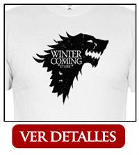 Camiseta Casa Stark Blanco