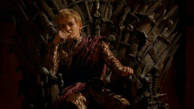 Joffrey en el Trono de Hierro