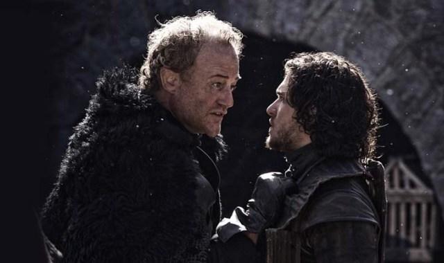 Ser Allister Throne y Jon Nieve
