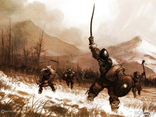 El Pueblo Libre ataca las tierras del Norte. Por Tomasz Jedruszek. © Fantasy Flight Games