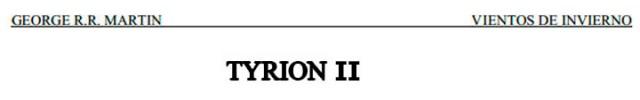 Tyrion 2 Vientos de Invierno
