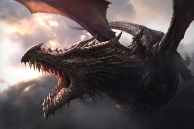 Aegon on Balerion, the Black Dread by J. Gonzalez