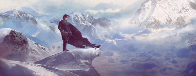Jon Snow and Ghost by guillemhp on deviantART