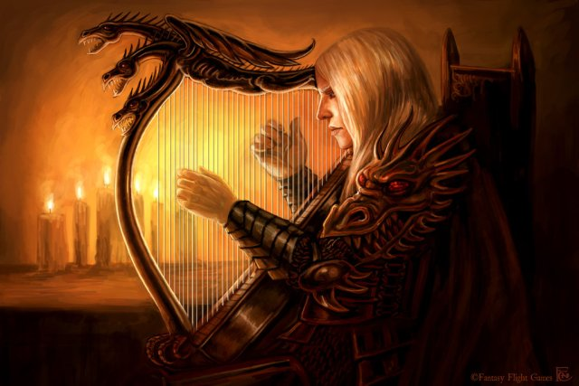 Rhaegar's Harp by feliciacano on deviantART