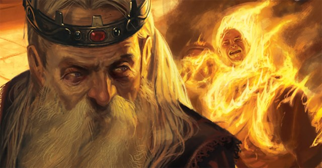 El Aerys quemando a un hombre. © FFG