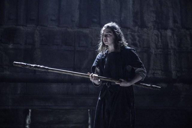 Maisie Williams como Arya Stark. Foto: Helen Sloan / HBO