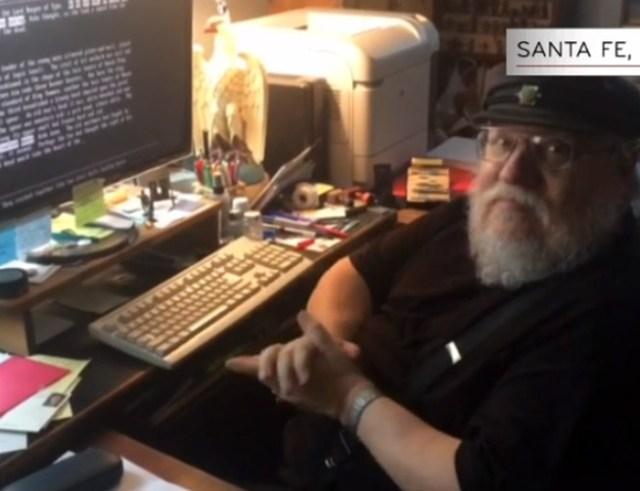 geoge martin grrm ordenador escribiendo