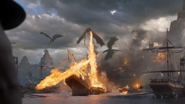 dragones meereen batalla