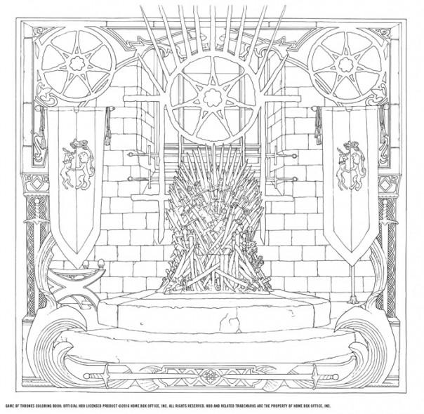 Anunciado el libro oficial para colorear de Juego de Tronos (la serie)