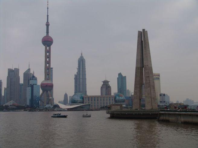 Letzter Blick auf Pudong von der Garden Bridge aus
