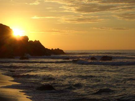 Sonnenuntergang über der Playa Zicatela