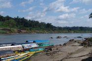 Lanchas auf dem Río Usumacinta
