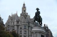 Reiterstatue von König Pedro IV auf der Praça da Liberdade