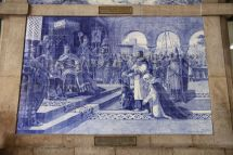 Azulejos in der Estação de São Bento
