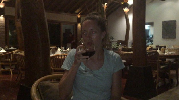 Badly needed glass of wine