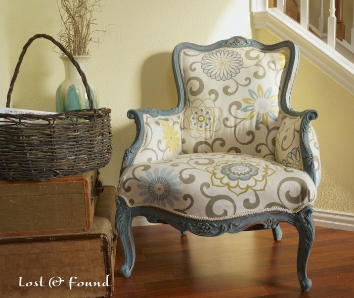 How to Reupholster a French Chair | Makeover Reveal