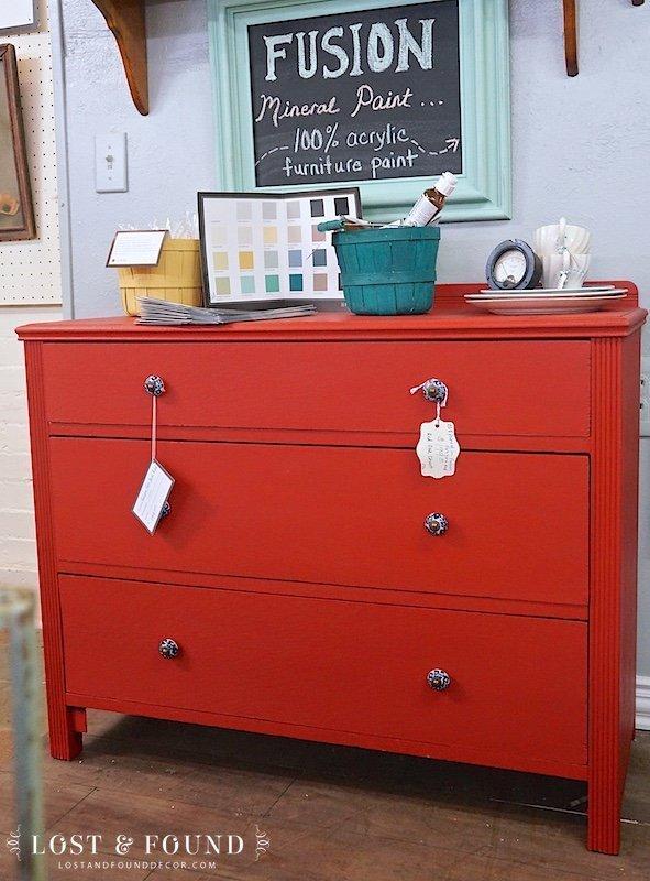 Ft. York Red Oak Dresser { Furniture Makeover }