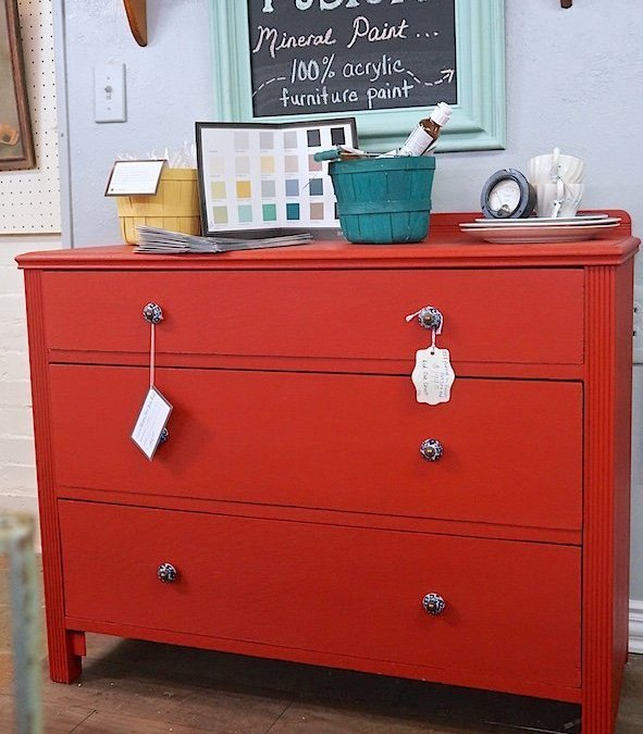 Fusion Ft. York Red Oak Dresser { Furniture Makeover }