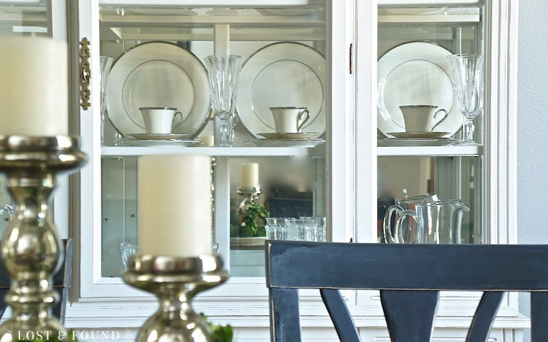 Painted China Cabinet Using Fusion Champlain { Furniture Makeover }