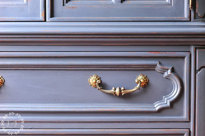 Painted Vintage Thomasville Chest in Fusion Ash