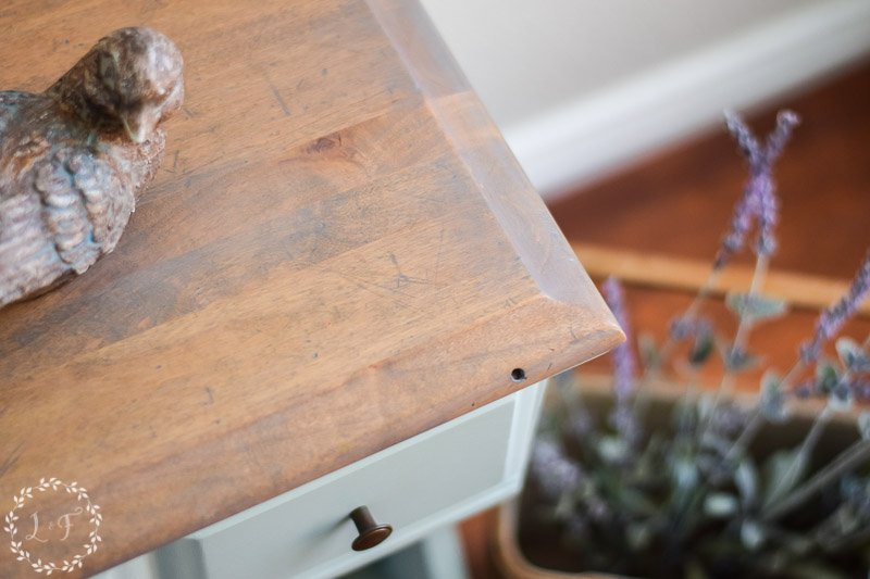 Inglenook Painted Nightstand | Fusion Mineral Paint April Color of the Month