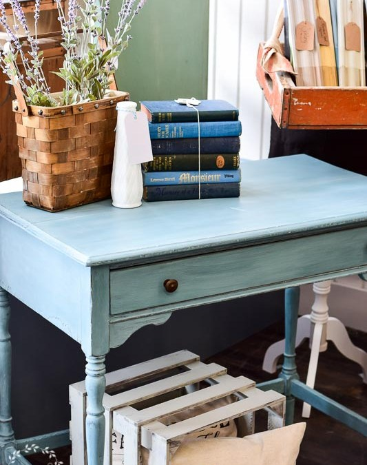 Writing Desk Makeover with MMS Milk Paint Kitchen Scale