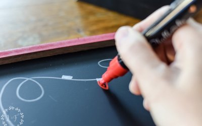 Easy DIY Christmas Chalkboard with Chalk Pens