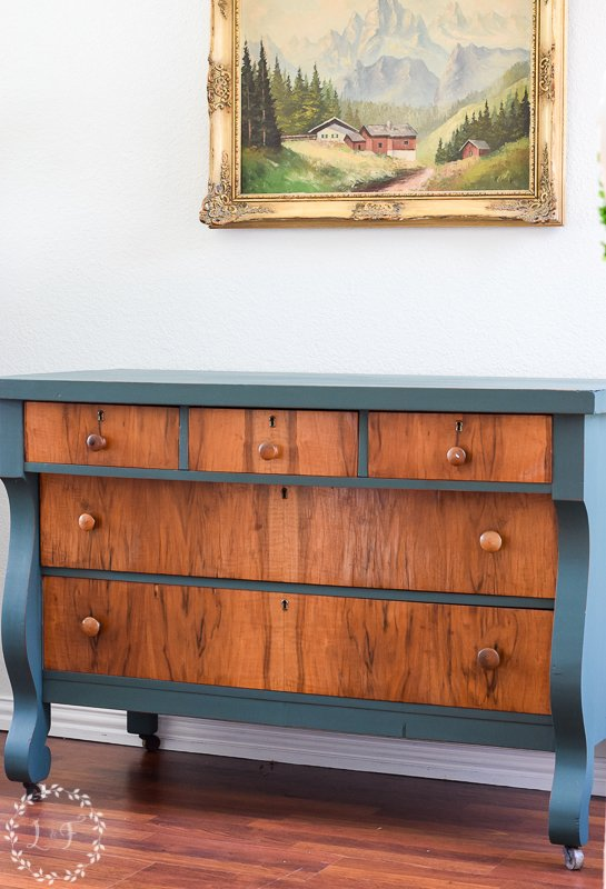 antique empire dresser makeover with fusion mineral paint 5