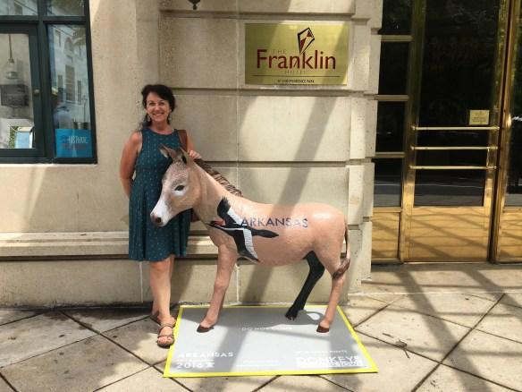 Arkansa outside the Franklin Hotel